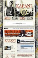 Kafani Myspace Layout by GrahamPhisherDotCom