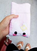 Cute Bunny Pouch by CosmiCosmos