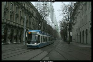 Disappearing Ghost Town Tram by HerrDrayer