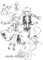 Rin+Len: Story of Evil-pencil by m0rning-gl0ry