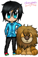 Phil and his lionnn by DawnRedd