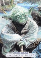 Star Wars GF - Yoda Sketch Art Card by DenaeFrazierStudios