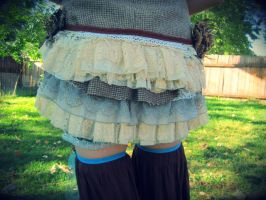 Upcycled Vintage Tweed Fairy Vest with Bustle by DewdropzGarden