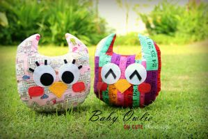 Baby Owlie Plush by ZellaLee