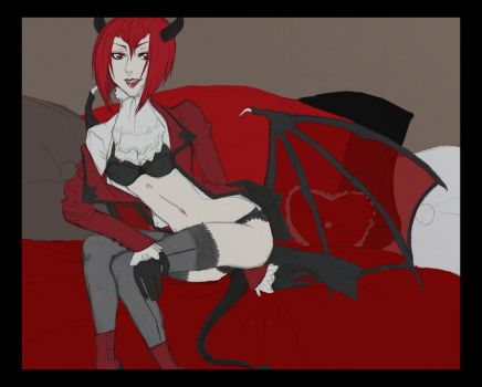 PANTY SHOT. Madam Red Style. by Nocturia