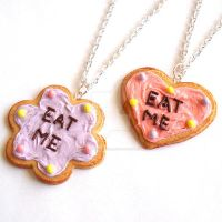 Alice in Wonderland Eat Me Cakes Pastel Colors by FatallyFeminine