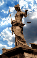 Lady Justice Statue - Bright Sky Edit - by IoannisCleary