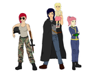 Fallout Equestria Dirty Deeds humanized characters by glue123