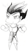 Commission: Vegeta Sketch by DeadlyObsession