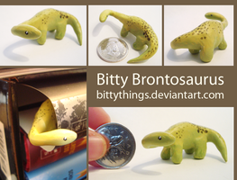 Bitty Brontosaurus - SOLD by Bittythings