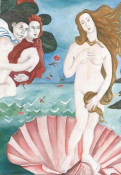 study of section of Birth of Venus by soozeebee