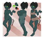 Cori Reference Sheet by CraziAnime