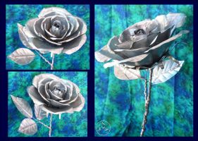 Galvanized Tin Rose by hippychick-nm