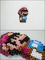 Super Mario World Small Mario (standing) bead spri by 8bitcraft