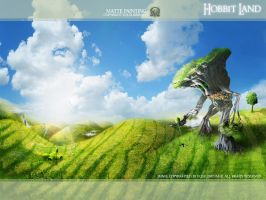 hobbit land - wallpaper by equilibrium3e