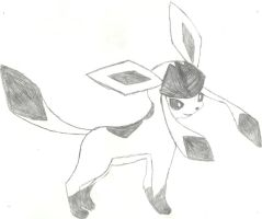 Glaceon Sketch by CoolMan666