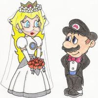 Mario and Peach's Wedding Day by nintendomaximus