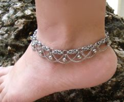 1970s Vintage Styled Chainmail Anklet by Pharewings