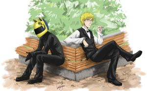 Celty Shizuo by laurbits