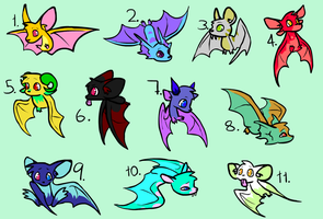 15 Point Bat Adoptables - CLOSED by Bloodtaintedsoul