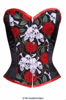 Gothic skull rose corset by viogeminidesigns