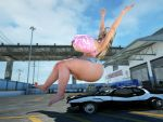 Junkyard Girls - Car butt crush preview by RedFireD0g