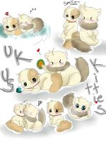 .:us-uk kitties:.fast color by Xx-Aisec-xX