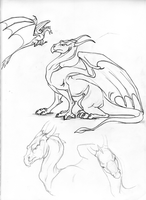 Dragon character sketch by lunatteo