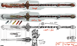 Prop Design: Sword Staff by ApathyHouseArt