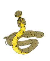 transparent european grass snake girl by MommaCabbit