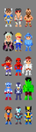 Marvel vs. Capcom Characters 8 bit by LustriousCharming