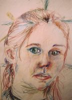 Colored Pencil Selfportrait by irelands-gem21