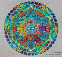 Advanced Mandala A3 Coloring Book 2 Collaboration by Mandala-Jim