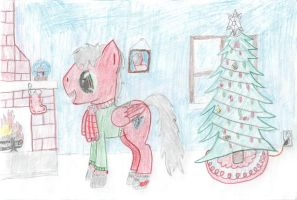 Ponyville christmas by Duns94