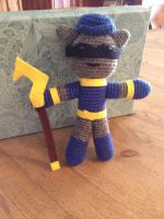 Crochet Sly Cooper by tails267209
