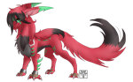 :Commish: - Flame by Venus-Dragoness