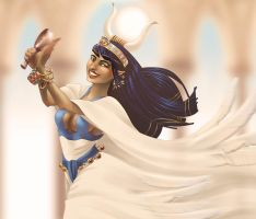 Hathor Dancing by neffinesse