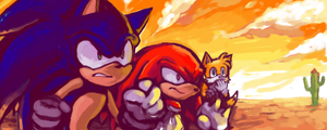 sonic team by BBrangka