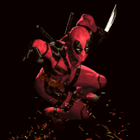Deadpool coloring by arissuparmanart