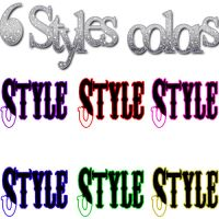 6 styles colors by DivasAndSuperstars