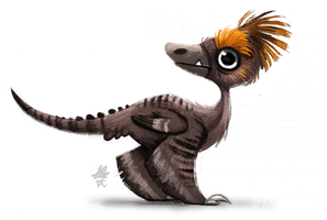 Daily Paint 650. Jurassic Book - Style Exploration by Cryptid-Creations
