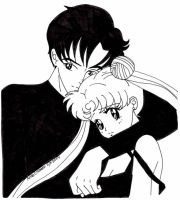 Mamoru and Usagi by usagisailormoon20