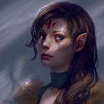 Elf portrait - commission example by Leventart