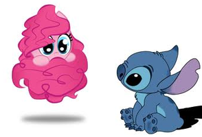 My Little Pony pinkie pie and stitch by SierisZockera