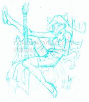 Cassie the Rock Vixen Sketch by ridia