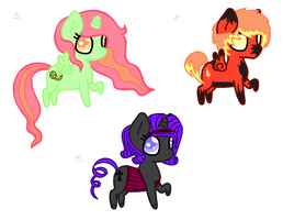 Pony Adopts ~ Batch Two by Miss-Catstacks