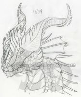 Dragon Head 5 by WindieDragon