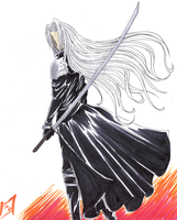 Sephiroth :gift for my cousin: by GuardianYashu
