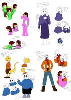 Undertale: Comic Character Designs(super spoliers) by CoolFireBird