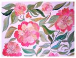 PEONY PAINTING by GeaAusten